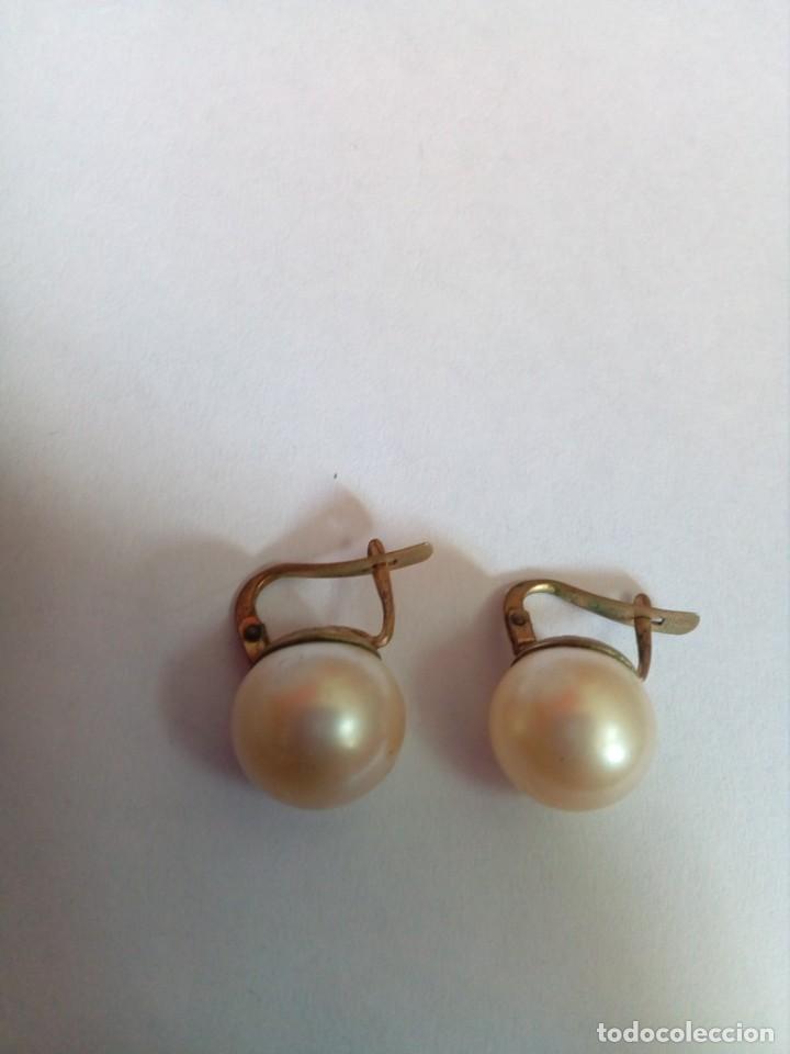 Joyeria: pendientes vintage con perlas - Foto 2 - 222446735