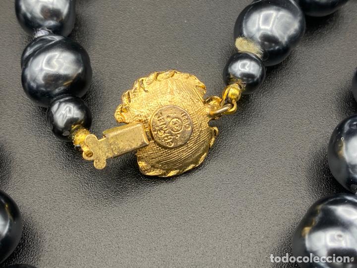 Joyeria: chanel necklace 1981 glass pearls in box , collar de chanel con perlas de cristal barrocas en caja - Foto 4 - 222455597