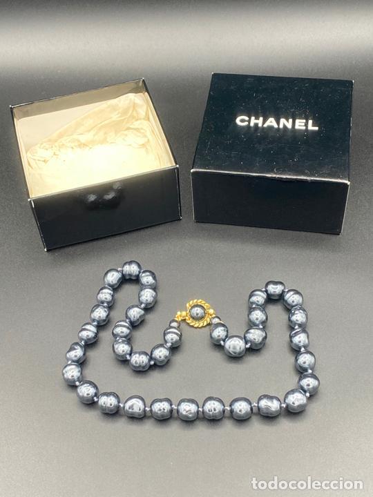 Joyeria: chanel necklace 1981 glass pearls in box , collar de chanel con perlas de cristal barrocas en caja - Foto 7 - 222455597