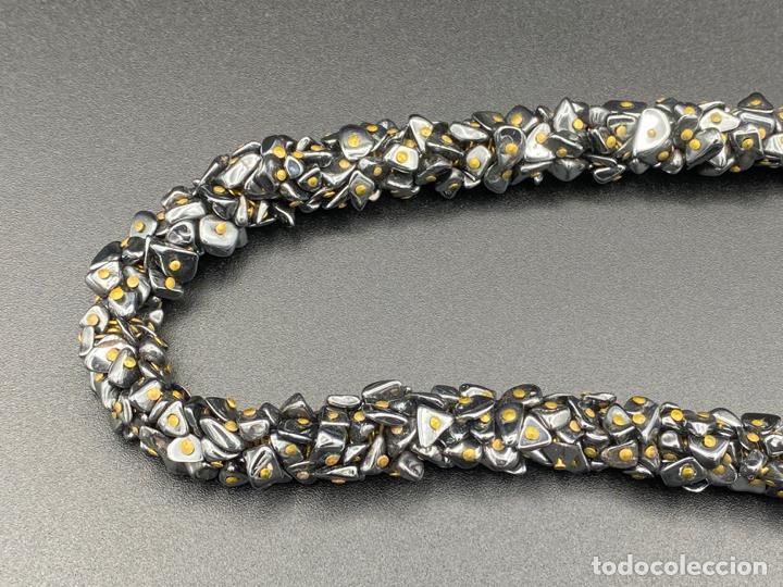 Joyeria: necklace hematite vintage , collar de diseño con hematite - Foto 3 - 222456493