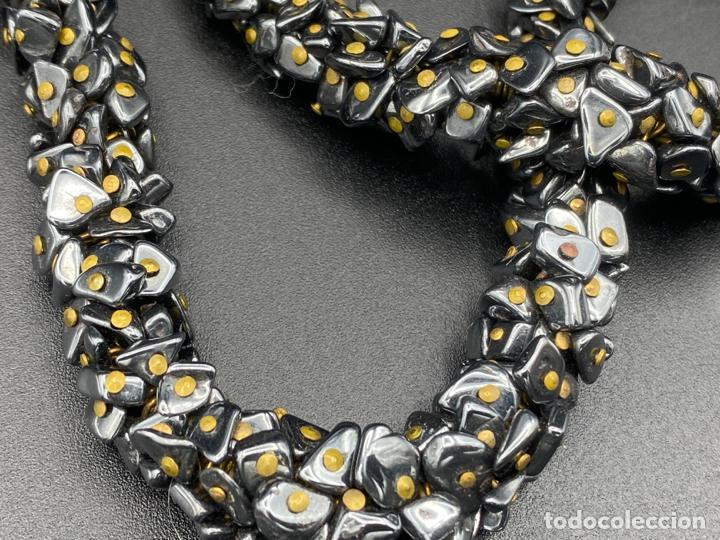 Joyeria: necklace hematite vintage , collar de diseño con hematite - Foto 6 - 222456493