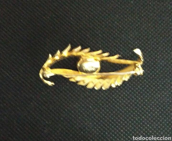 Joyeria: Diseño Broche antiguo chapado en oro con perla - Foto 2 - 223130558