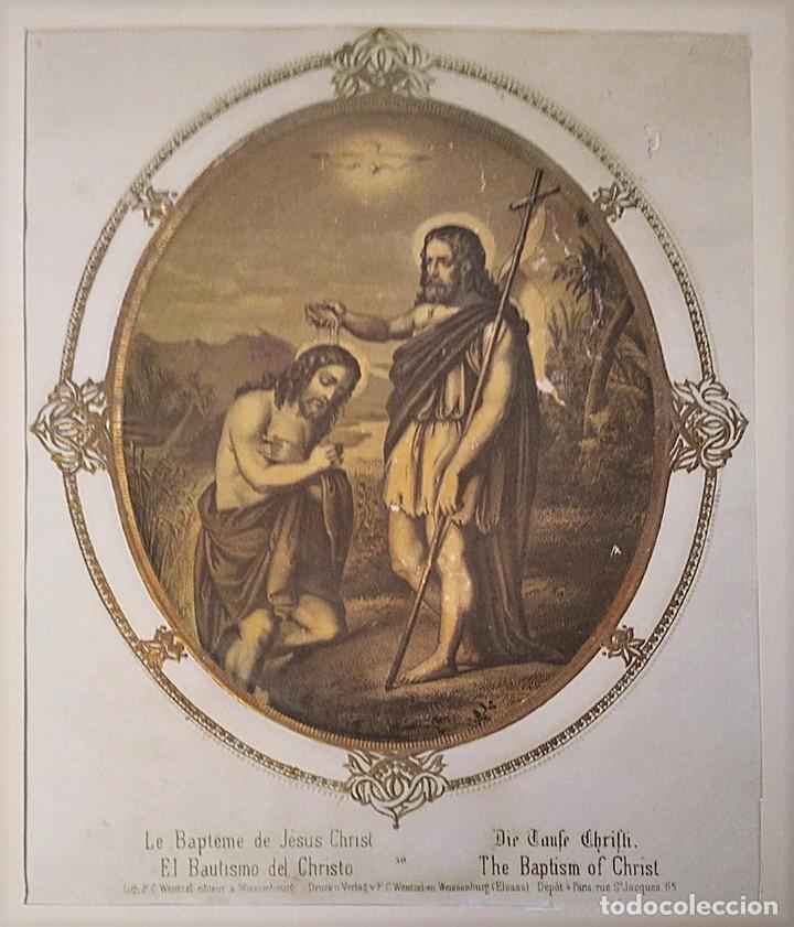Joyeria: San Juan Bautista y San Pedro. Pareja de litografías. s. XIX - Foto 2 - 223439075