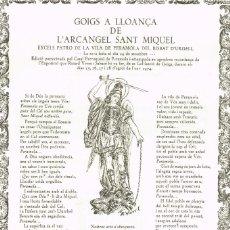 Joyeria: GOIGS A LLOANÇA DE L´ARCANGEL SANT MIQUEL EXCELS PATRO DE LA VILA DE PERAMOLA BISBAT D´URGELL (2). Lote 223925576