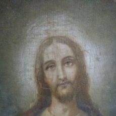 Joyeria: TAPIZ MUY ANTIGUO SAGRADO CORAZÓN DE JESÚS. Lote 224097071