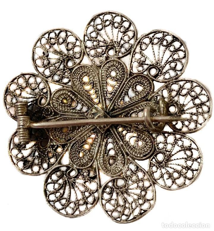 Joyeria: Broche Antiguo de Filigrana y plata - Foto 2 - 226613020