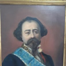 Joyeria: PINTURA AL OLEO ,ADELARDO LOPEZ AYALA ,MINISTRO DE ULTRAMAR,POR FELIPE BARRANTES ,FILIPINAS 1889. Lote 230555915