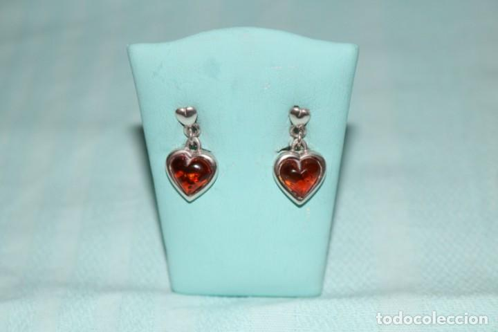 Joyeria: Encantadora pareja de pendientes de plata y ámbar. Charming pair of silver and amber earrings. - Foto 2 - 231224060