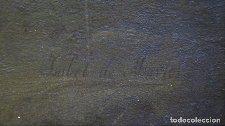 Joyeria: SAN RAMON NONATO. OLEO S/ TABLA. FIRMADO ISABEL DE MARTOS. SIGLO XIX - Foto 17 - 231249725