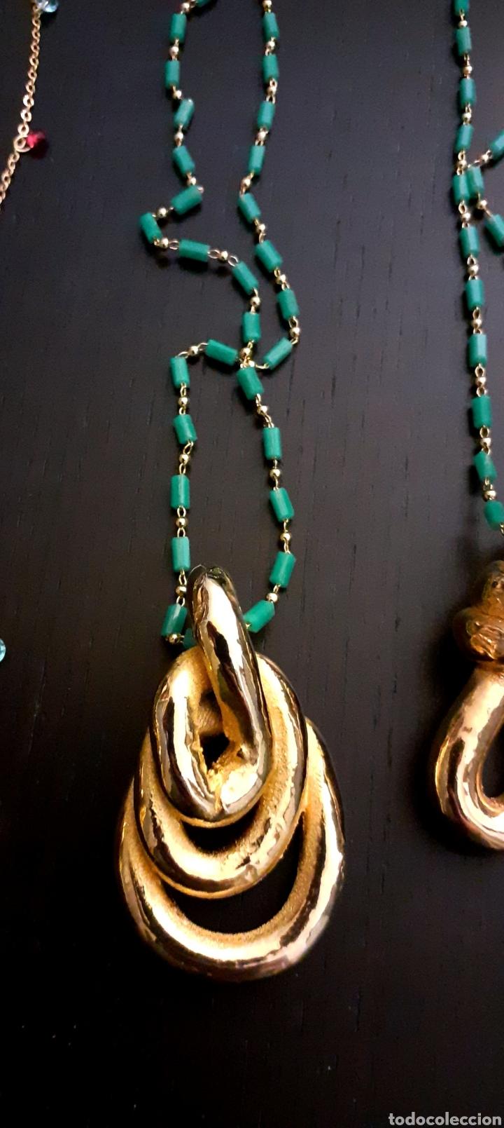 Joyeria: Collar con colgante de Nudo Marinero de porcelana bañado en oro vintage Grecia - Foto 2 - 232390040