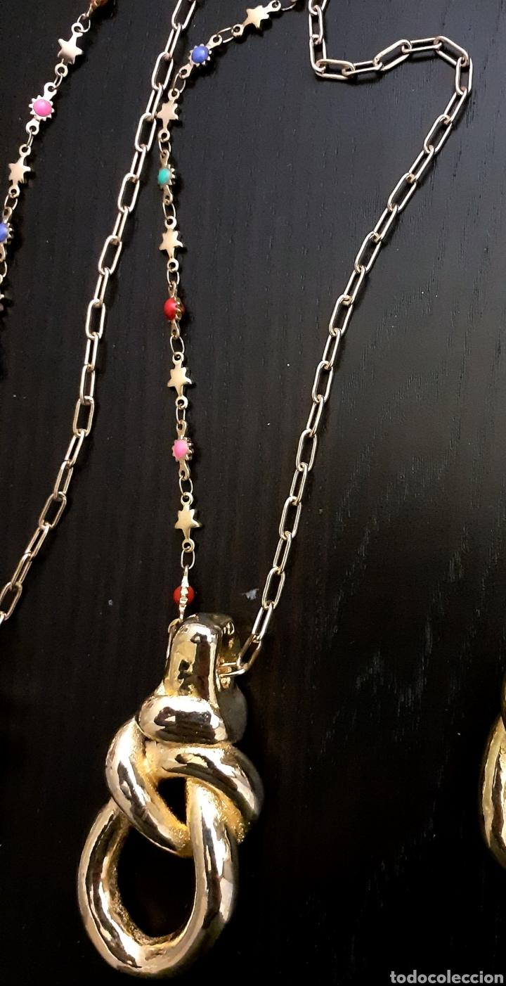 Joyeria: Collar con colgante de Nudo Marinero de porcelana bañado en oro vintage Grecia - Foto 2 - 232390625