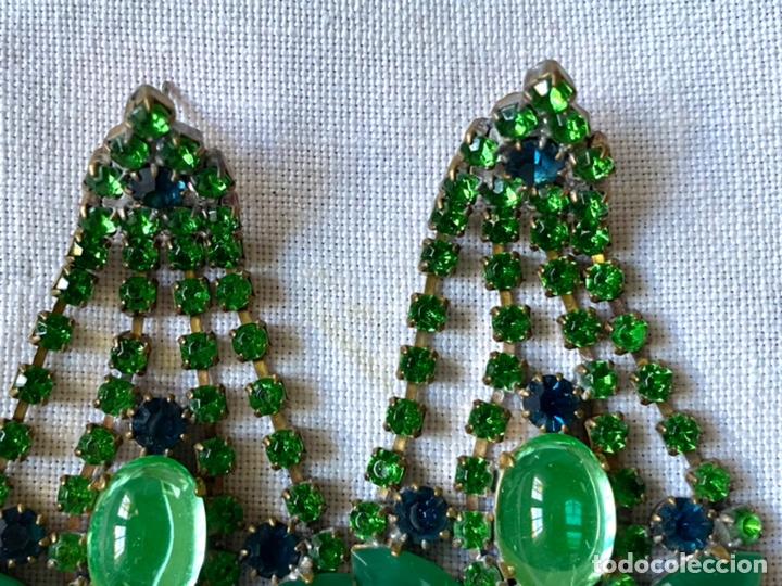 Joyeria: Pendientes vintage de cristales - Foto 2 - 234782885