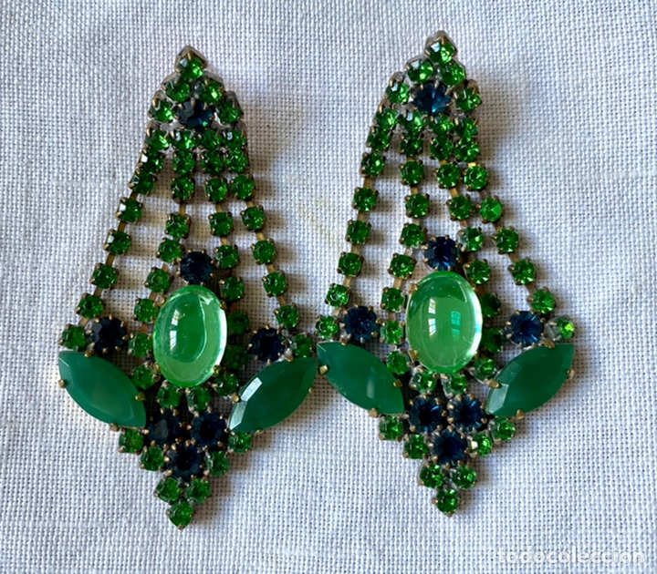 Joyeria: Pendientes vintage de cristales - Foto 3 - 234782885