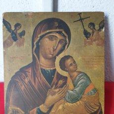 Joyeria: ANTIGUO ICONO RELIGIOSO ORTODOXO MADERA. Lote 243397890