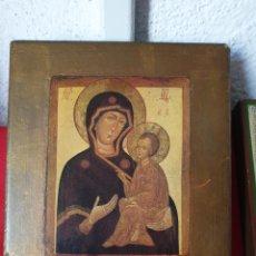 Joyeria: ANTIGUO ICONO RELIGIOSO ORTODOXO MADERA. Lote 243399330