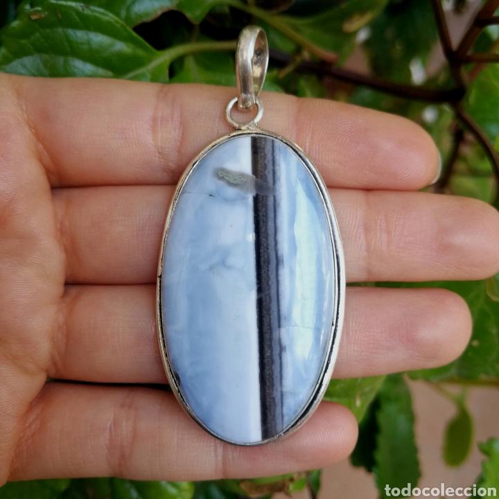 Joyeria: Colgante con Ópalo azul Owyhee - 13gr. - Foto 2 - 244485945