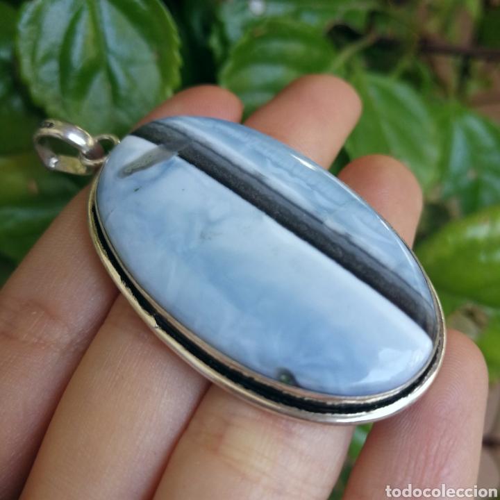 Joyeria: Colgante con Ópalo azul Owyhee - 13gr. - Foto 3 - 244485945