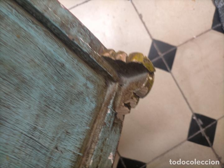 Joyeria: ANTIGUO ATRIL DE MADERA TALLADA Y POLICROMADA IDEAL COLOCAR LIBRO O UTILIZAR DE PEANA VIRGEN VER FOT - Foto 22 - 254400110