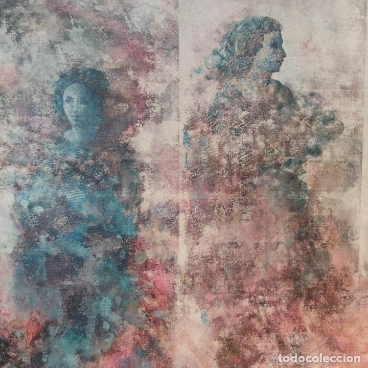 Joyeria: Enorme oleo sobre lienzo. Retrablo tríptico de las Náyades oferentes. Antonio Ferri. 1990. Firmado. - Foto 3 - 254428745