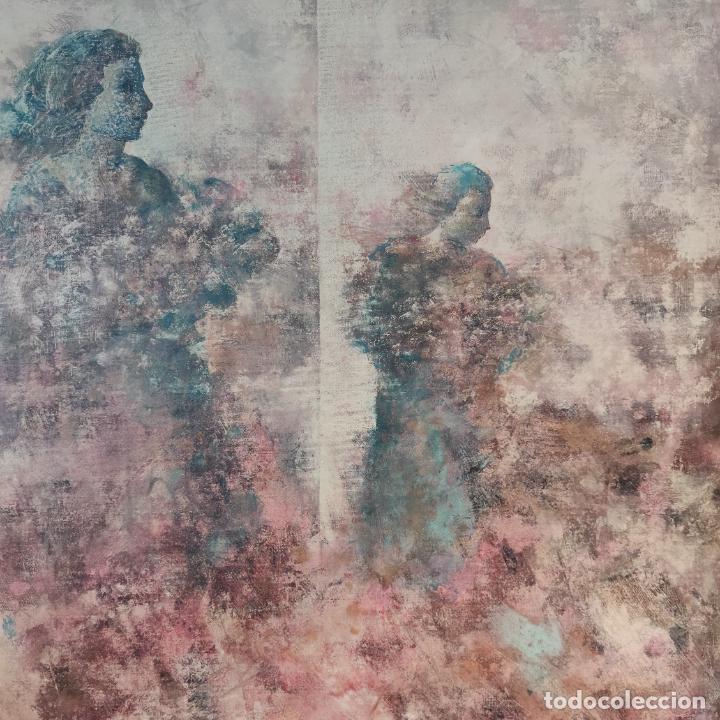 Joyeria: Enorme oleo sobre lienzo. Retrablo tríptico de las Náyades oferentes. Antonio Ferri. 1990. Firmado. - Foto 4 - 254428745