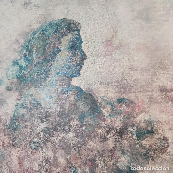 Joyeria: Enorme oleo sobre lienzo. Retrablo tríptico de las Náyades oferentes. Antonio Ferri. 1990. Firmado. - Foto 5 - 254428745