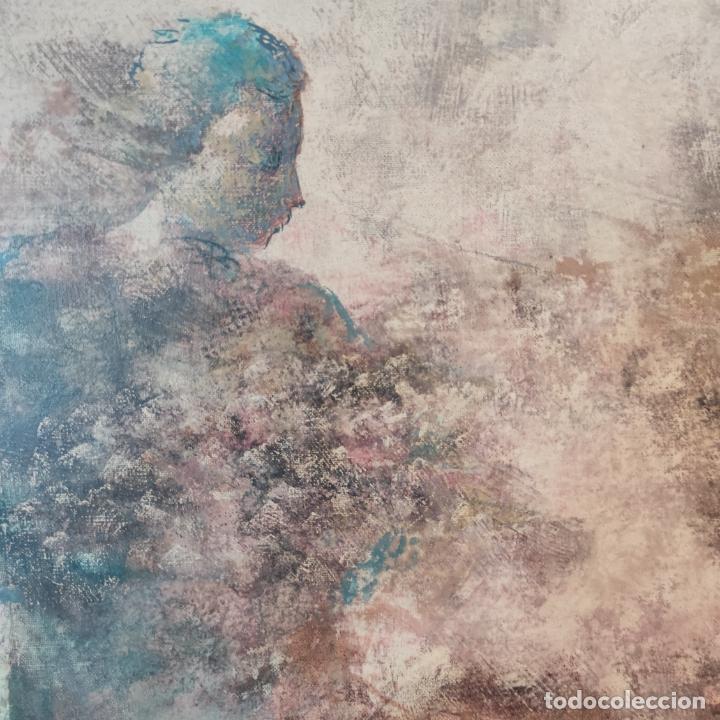Joyeria: Enorme oleo sobre lienzo. Retrablo tríptico de las Náyades oferentes. Antonio Ferri. 1990. Firmado. - Foto 6 - 254428745