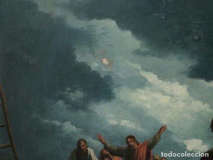 Joyeria: Francisco García Ibáñez.1885. Escena de la Crucifixión de Jesucristo. Óleo/lienzo. Med: 58 x 49 cm. - Foto 5 - 254451840