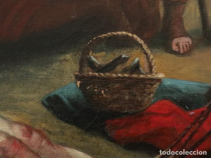 Joyeria: Francisco García Ibáñez.1885. Escena de la Crucifixión de Jesucristo. Óleo/lienzo. Med: 58 x 49 cm. - Foto 8 - 254451840