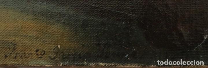 Joyeria: Francisco García Ibáñez.1885. Escena de la Crucifixión de Jesucristo. Óleo/lienzo. Med: 58 x 49 cm. - Foto 11 - 254451840