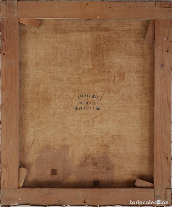 Joyeria: Francisco García Ibáñez.1885. Escena de la Crucifixión de Jesucristo. Óleo/lienzo. Med: 58 x 49 cm. - Foto 12 - 254451840