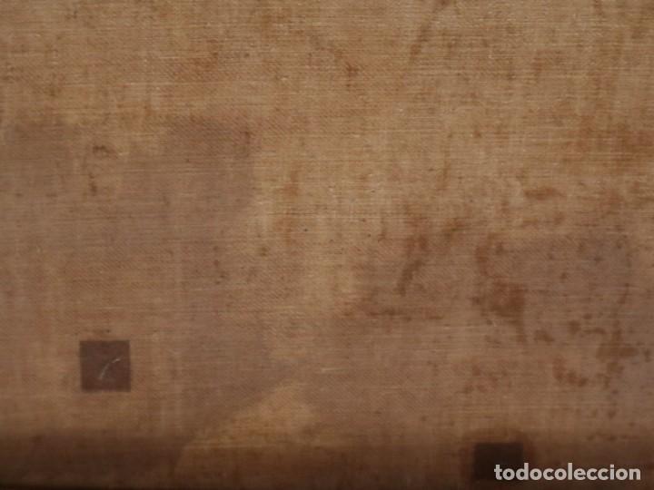 Joyeria: Francisco García Ibáñez.1885. Escena de la Crucifixión de Jesucristo. Óleo/lienzo. Med: 58 x 49 cm. - Foto 15 - 254451840