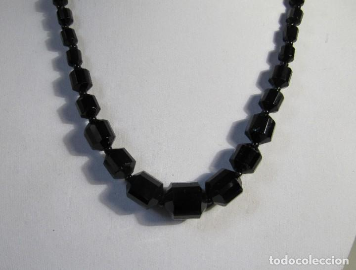 Joyeria: collar de cristal negro facetado art deco - Foto 2 - 260384840