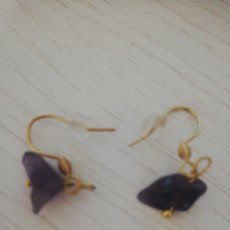 Joaillerie: PENDIENTES CHIPS AMATISTA MODELO 2. Lote 269001759