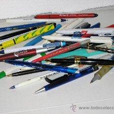 Bolígrafos antiguos: COLECCION DE 30 BOLIGRAFOS DE PROGANDA ANTIGUOS. Lote 22708589