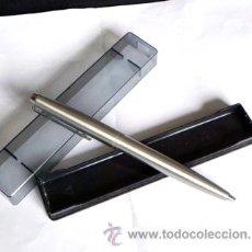 Bolígrafos antiguos: BOLÍGRAFO INOXCROM 77 ACERO CON ESTUCHE CAJA ORIGINAL - TINTA GASTADA - - BOLI. Lote 27640218