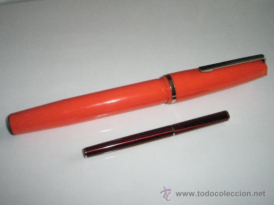 Bolígrafos antiguos: ENORME BOLÍGRAFO DE PLÁSTICO COLOR NARANJA-24 cms-ITALY-CURIOSO. - Foto 6 - 26637087
