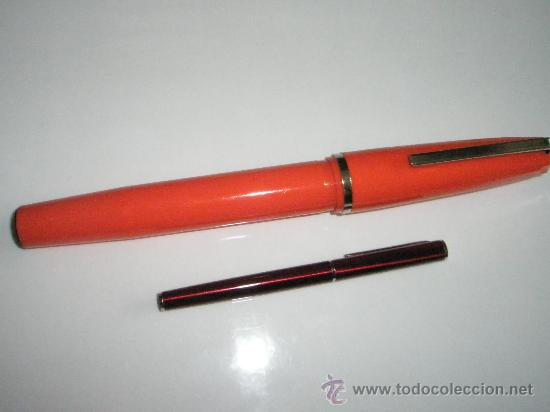 Bolígrafos antiguos: ENORME BOLÍGRAFO DE PLÁSTICO COLOR NARANJA-24 cms-ITALY-CURIOSO. - Foto 7 - 26637087
