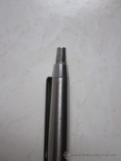Bolígrafos antiguos: BOLÍGRAFO INOXCROM 55 COLOR GRANATE Y ACERO. - Foto 3 - 30025158