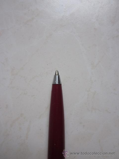 Bolígrafos antiguos: BOLÍGRAFO INOXCROM 55 COLOR GRANATE Y ACERO. - Foto 4 - 30025158