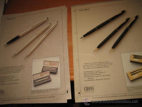 Bolígrafos antiguos: BOLIGRAFOS CROSS 7 HOJAS CON MODELOS DIVERSOS Y ACCESORIOS PERTENECE A UN CATALOGO DE ALMACEN - Foto 3 - 31206844