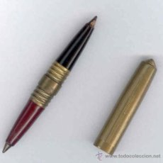 Bolígrafos antiguos: ANTIGUO BOLIGRAFO DOBLE - MIDE 9 CMS - VER FOTOGRAFIAS ADICIONALES. Lote 112684531