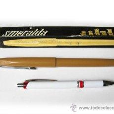Bolígrafos antiguos: ANTIGUO BOLIGRAFO DE GRAN TAMAÑO MARCA SMERALDA. Lote 35318938