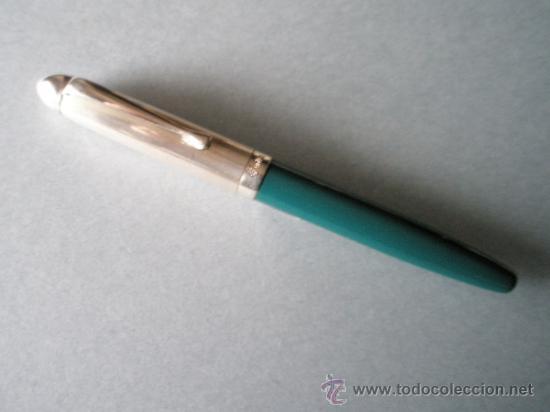 Bolígrafos antiguos: AºROLLER-ITALY-DELTA GRAFFITI-DESCATALOGADO-PLATA 925+RESINA VERDE-BUEN ESTADO-VER FOTOS. - Foto 6 - 36932631