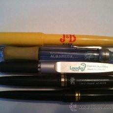 Bolígrafos antiguos: LOTE DE 5 BOLIGRAFOS DE VARIAS PUBLICIDADES.. Lote 37315492