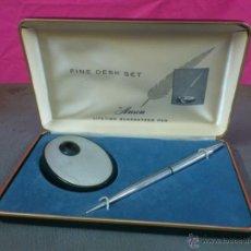 Bolígrafos antiguos: BOLIGRAFO FINE DESK SET BY ANSON . VINTAGE. Lote 41518538