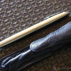 Bolígrafos antiguos: BOLÍGRAFO INOXCROM DORADO CON FUNDA . Lote 43408888
