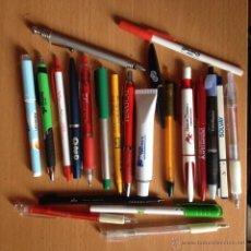 Bolígrafos antiguos: LOTE DE 61 BOLIGRAFOS DE PUBLICIDAD. Lote 97080676