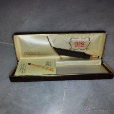Bolígrafos antiguos: BOLIGRAFO CROSS CHAPADO EN ORO 14 K DE LOS AÑOS 70-80. Lote 48595519