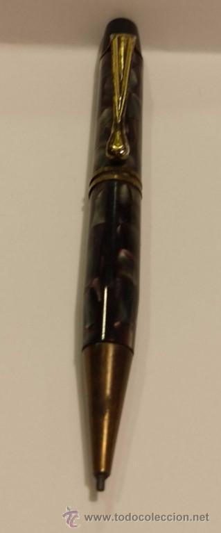 Bolígrafos antiguos: PORTAMINAS EN CELULOIDE ESTILO ART DECO - Foto 2 - 48901369