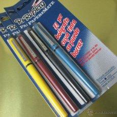 Bolígrafos antiguos: ANTIGUO LOTE 4 BOLIGRAFOS-USA-PAPER MATE REPLAY-TINTA BORRABLE-NUEVOS-VER FOTOS.. Lote 49033712